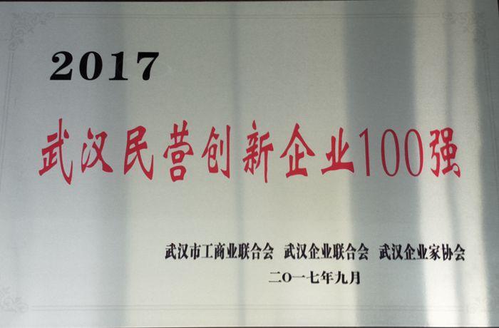 武汉民营创新企业100强(2017.09...